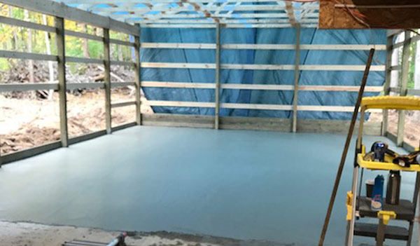 Cement Garage Floor Installation