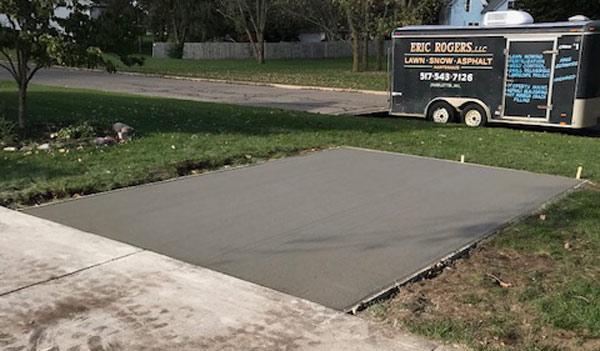 Concrete Parking Slab Installation